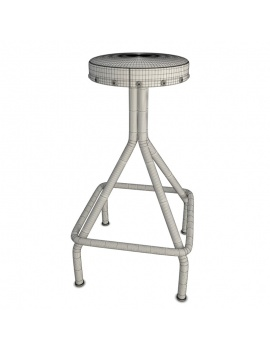 collection-of-pub-vintage-furniture-3d-stool-mendel-2-wireframe
