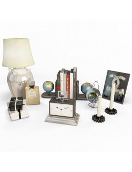 set-d-objets-decoratifs-en-3d-modele-3d