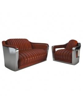 fauteuil-vintage-aviateur-modele-3d