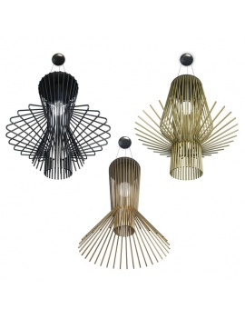 3 Metallic Pendant Light 3d Models