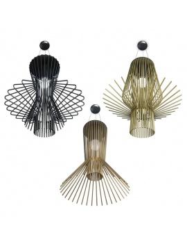 3-metallic-pendant-light-3d-models