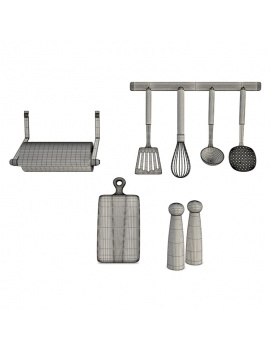 kitchen-furniture-and-accessories-3d-models-utensils-wireframe