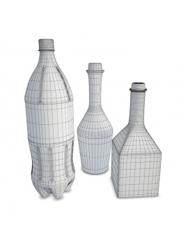kitchen-furniture-and-accessories-3d-models-bottles-wireframe