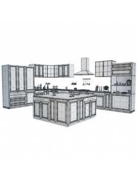 kitchen-furniture-and-accessories-3d-models-wireframe