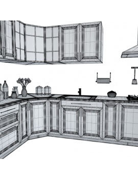 kitchen-furniture-and-accessories-3d-models-angle-wireframe