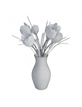 kitchen-furniture-and-accessories-3d-models-flowers-wireframe
