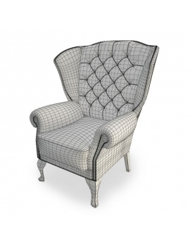 classic-upholstered-armchair-3d-models-wireframe