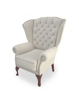 fauteuil-classique-capitonne-modele-3d
