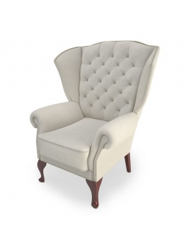 classic-upholstered-armchair-3d-models