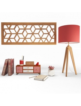 composition-d-objets-decoratifs-en-bois-3d