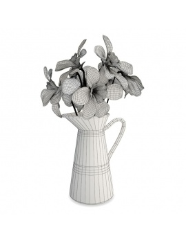 collection-newsletter-2018-3d-models-bouquet-jonquilles-wireframe