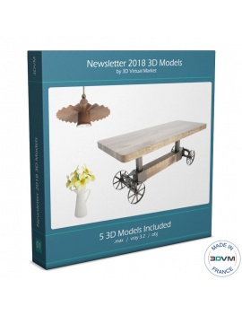 Collection Newsletter 2018 3d Models