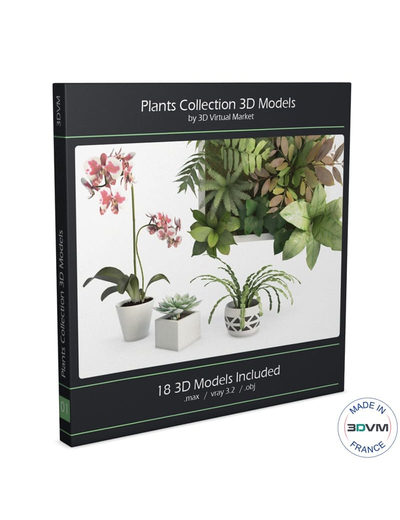 collection-plants-flowers-3d