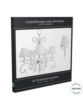 baroque-crystal-lamp-collection-3d