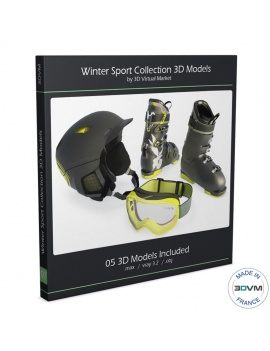 winter-sport-equipment-collection-3d