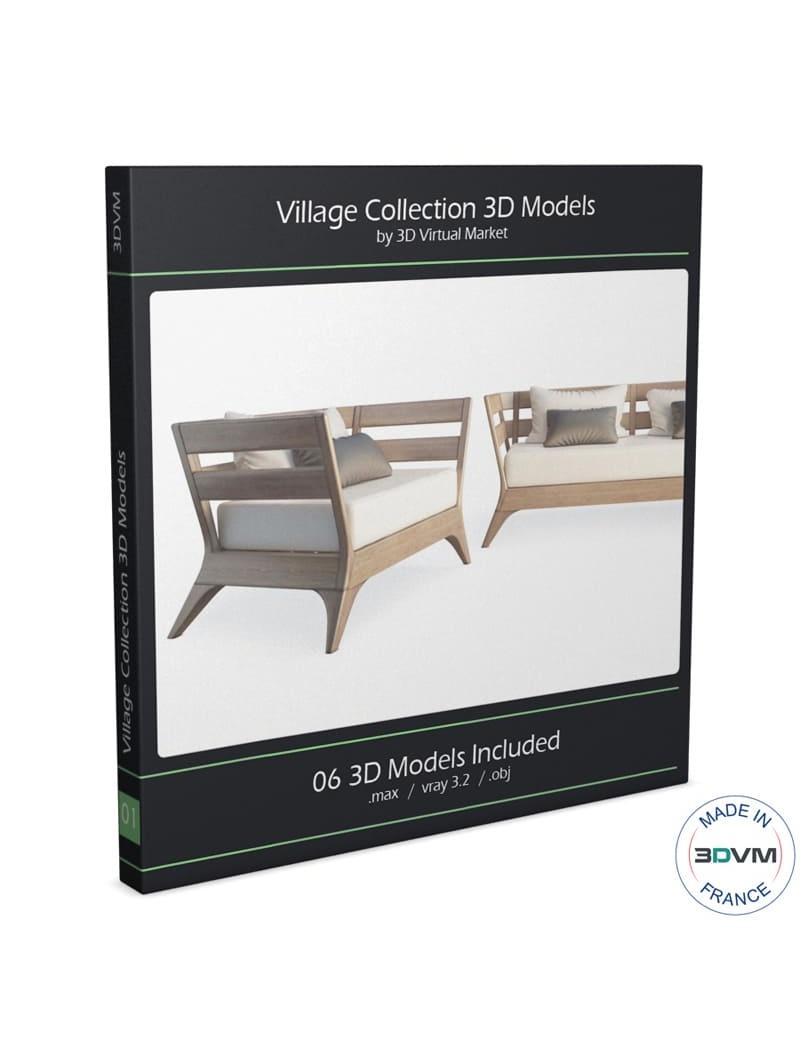 collection-de-mobilier-village-3d
