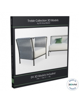 collection-de-mobilier-tresse-treble-3d