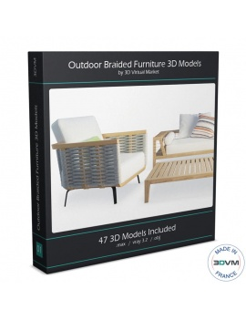 Outdoor Braided Furniture - 3d Models