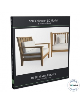 York Collection Wood Furniture 3d Models