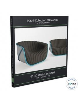 mobilier-nautil-roche-bobois-3d-canapés-fauteuil
