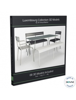 collection-mobilier-luxembourg-fermob-3d