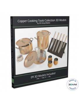copper-cooking-tools-collection-3d