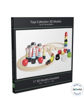 Wooden Toys Collection - 3d Models