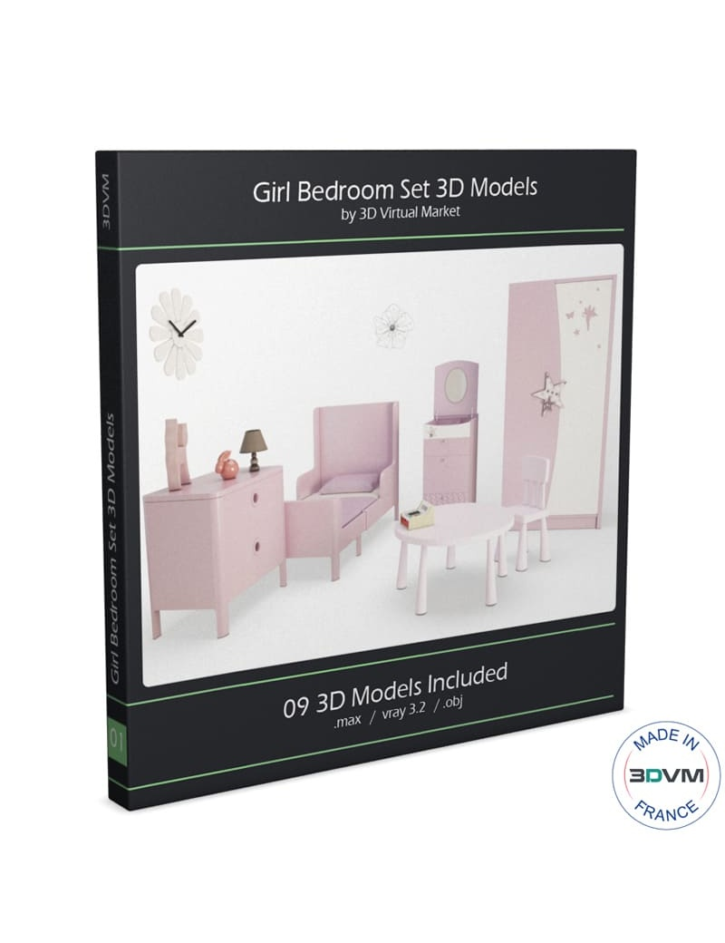 girl-bedroom-set-3d