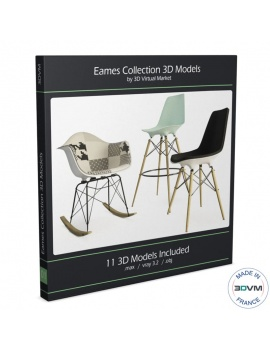 eames-collection-chair-3d