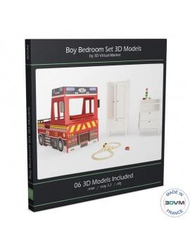 chambre-garcon-pompier-3d