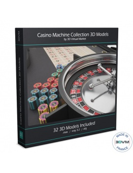 casino-machine-and-lighting-collection-3d