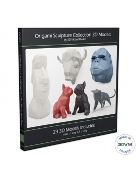 collection-3d-de-sculptures-d-animaux-geometriques