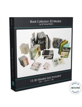 books-collection-opened-and-closed-3d