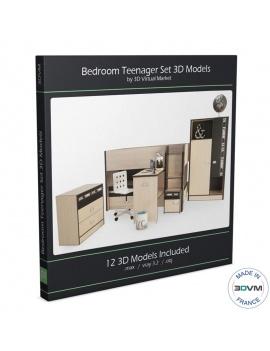 wooden-bedroom-teenager-set-3d