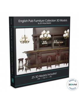 english-pub-furniture-collection-3d-models