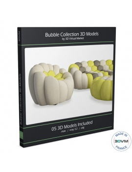 Bubble Sofa Collection 3d Models