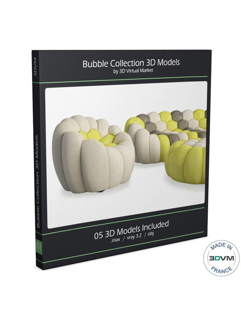 Bubble Sofa Roche Bobois bubble sofa and armchair roche bobois for download in max 2014 and obj