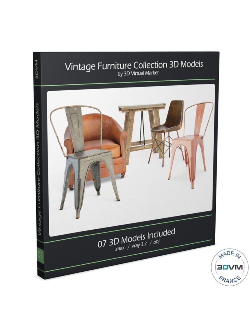 vintage-furniture-tables-and-seats-3d