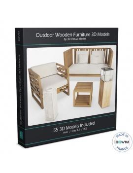 collection-3d-de-mobilier-extérieur-en-bois