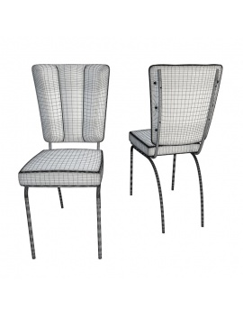 american-diner-3d-chair-wireframe