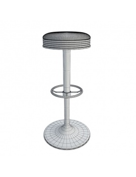 american-diner-3d-stool-wireframe