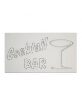 american-diner-3d-neon-lights-cocktail-bar-wireframe