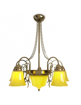 collection-de-luminaires-antiques-3d-suspension-jaune