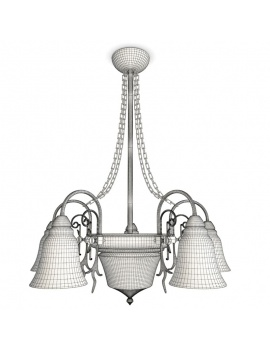 collection-de-luminaires-antiques-3d-suspension-jaune-filaire
