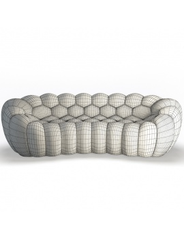 bubble-sofa-3-seats-3d-model-front-wireframe