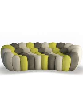 bubble-sofa-3-seats-3d-model-front