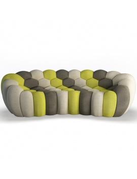 bubble-sofa-3-seats-3d-model-front
