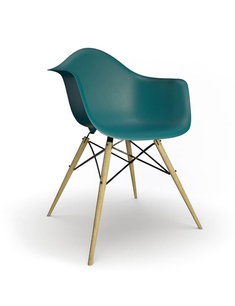 Chaise Eames DAW Vitra en 3D à télécharger en max et obj