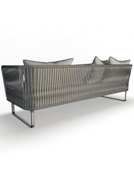mobilier-exterieur-bitta-kettal-3d-canape-3places-dossier-filaire
