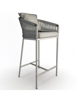 mobilier-exterieur-bitta-kettal-3d-tabouret-bar-filaire